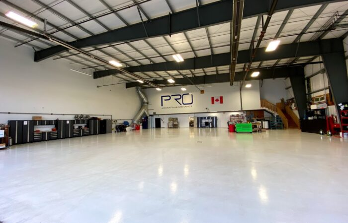 Pro Aircraft Maintenance Fully Equipped Hangar with Pilatus PC-12, Cessna and Cirrus SR-20 Aircrafts Parked Inside